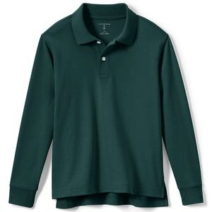 Evergreen Long Sleeve Polo for Kids by Lands' End